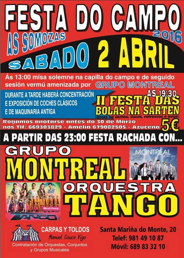 Festa do Campo - As Somozas - abril - 2016 - cartel